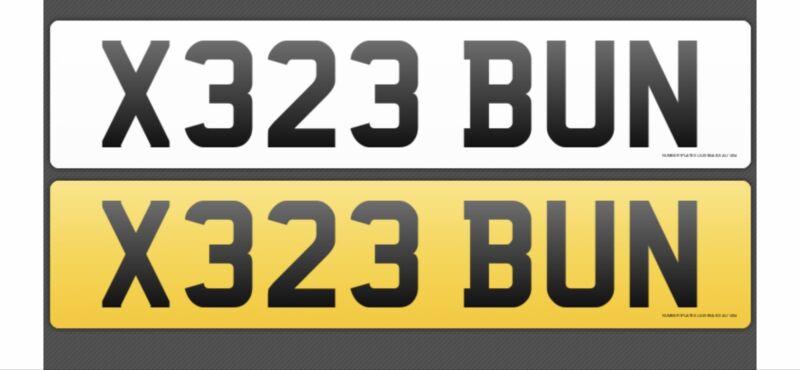 cherished+number+plate+X323+BUN
