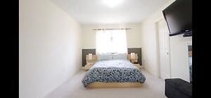 IKEA Malm Queen Bed Frame w/ Side Tables