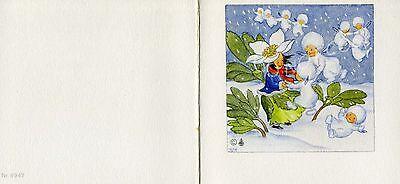 Winter Fairies (Antique Rare Ida Bohatta Winter: Snowdrop Fairies Dogwood Greeting Card)