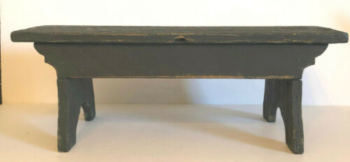 Vintage primitive folk art painted bench