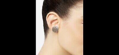 Gold-Tone Crest Button Clip-on Earrings New Lauren Ralph Lauren