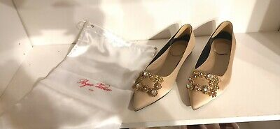 roger vivier pink size US7.5 (37.5) flats with box and bag