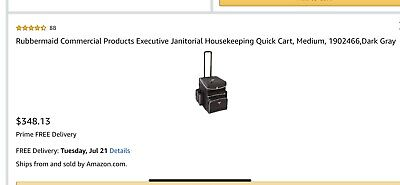 Rubbermaid Commercial Janitorial Housekeeping Cart
