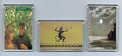 Magnets x 3 : ECHO AND THE BUNNYMEN Killing Moon Dancing Horses Back of Love alt