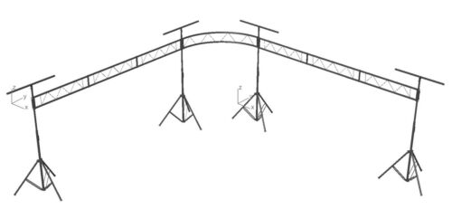 Dual Side 90 Degree 15ft Portable DJ Lighting Truss/Stand w T-Bar Stage System