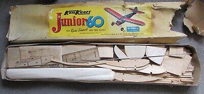 """Vintage Keil Kraft JUNIOR 60 60"""" Wingspan Aeroplane Balsa Wood Kit"""