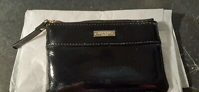 KATE SPADE Black Bow Patent Leather Coin Purse-NEW WITH CARE CARD
