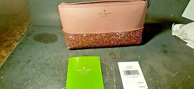 """Kate Spade """"All That Glitters Little Shiloh Greta Court"""" MakeUp Bag-NEW WITH TAG"""