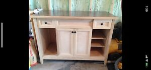 Hand crafted solid wood vanity