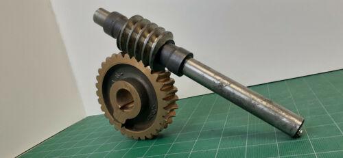 """Worm Gear 30T 8DP Bronze """"SET"""" with matching steel Worm Bond USA NOS  10E30"""