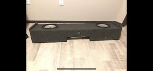 "Two 10"" jl audio subs with 1000 watt jl audio amp"