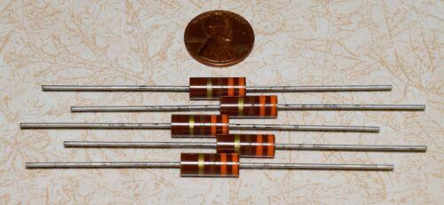 5 Allen-Bradley 330 ohm 1W Carbon Comp Resistors NOS 5%