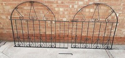 Used metal garden driveway gates