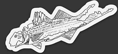 New York Bass - LONG ISLAND NEW YORK STRIPER STRIPED BASS FISHING WATERPROOF DECAL