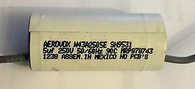 Aerovox 5uf 250vac Axial Capacitor Lot Of 10 W43a2505e Sh9531 Mrp878743