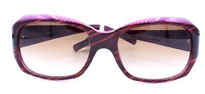 DKNY Women's Plastic Woman Rectangular Sunglasses, Striped Brown/Violet, 55 mm