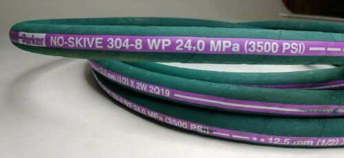 "Parker No-Skive 1/2"" 304-8 Hydraulic Hose - 25 Ft Roll"