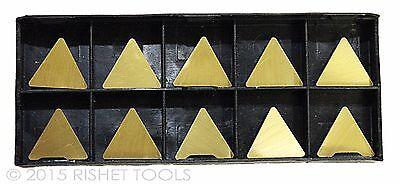 Rishet Tools Tpg 322 C5 Multi Layer Tin Coated Carbide Inserts 10 Pcs