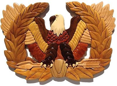 CHIEF WARRANT OFFICER RISING EAGLE PLAQUE - Handcrafted Wooden Military Plaques
