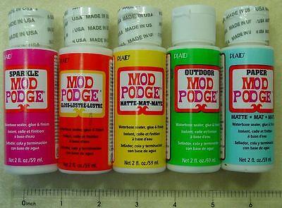 Mod Podge Adhesive Glue Sealer Matte Acid-Free Glass Luster Outdoor Sparkle Lot (Mod Podge Glass)