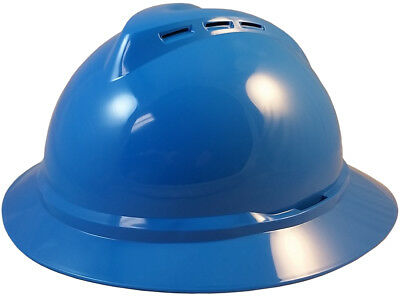 Msa Vented Full Brim Safety Hard Hats With 4 Point Ratchet Suspension 5 Colors