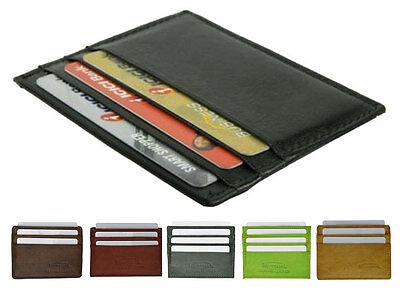 Front Fold Wallet - Genuine Leather Men's Thin Wallet Credit Card Flat Front Pocket Bill Fold Holder