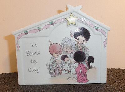 "Precious Moments ""We Beheld His Glory"" Nativity Music Box"