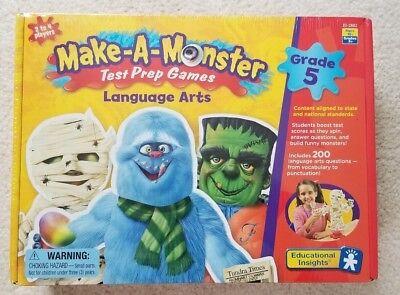 Make a Monster Test Prep Games for Language for Grade 5-Educational Insights NEW (Monster Games For Kids)