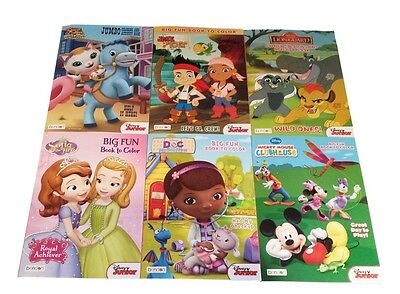 Disney Junior Coloring Books Mickey Mouse Sofia the First Doc McStuffins Callie