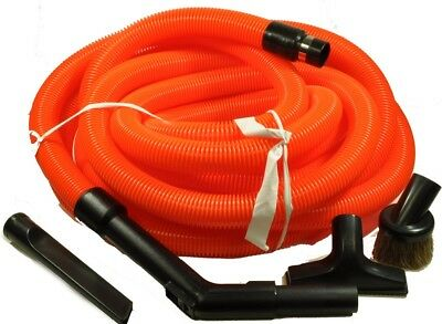 Central Vacuum Home Auto Car Garage Kit w/ Hose & Attachments for Beam Vacuflo