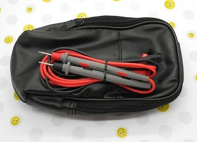 Soft Black Carrying Case 115 116 117 789 787 179 87 W Fluke Leads Tl71 4wpg3
