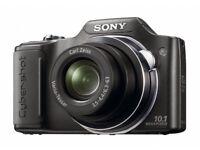 Sony Cyber-shot DSCH20 Digital Camera - Black (10MP, 10x Optical Zoom) 3 inch LCD