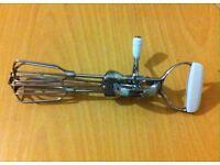 """Master Class Stainless Steel Rotary Egg Beater Whisk, 30 cm (12"""")"""