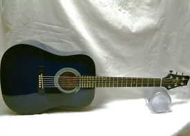 Stagg guitar, a bit smaller western jumbo style, vgc with new strings, sounds good.