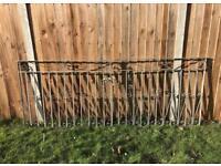 Solid iron gates