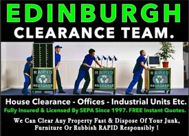 ®️☎️📞 EDINBURGH HOUSE CLEARANCE & DISPOSAL 📞 RUBBISH REMOVAL, MAN AND A VAN, PROPERTY CLEARANCE