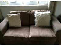 Brown 4seater & 3seater sofa