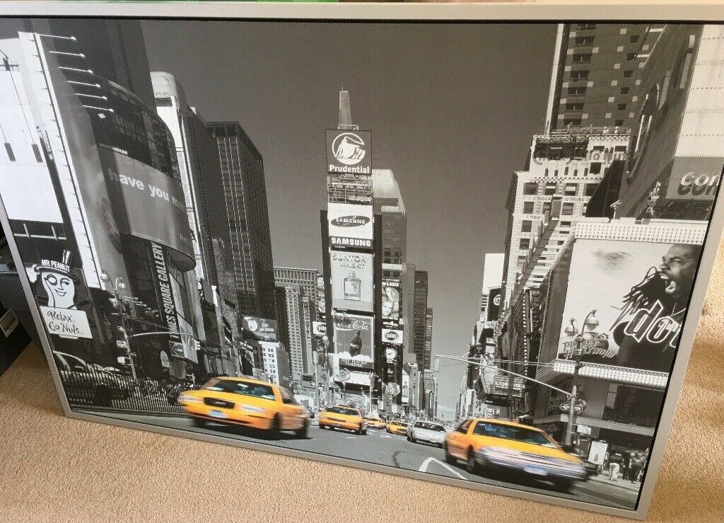 Large Ikea yellow taxi cab picture with grey frame | in Northampton,  Northamptonshire | Gumtree