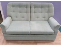 Stunning Light Green 2 Seater Sofa/in Great Condition (Local delivery £5-£10)