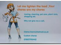 CUSTOM CHORES....make your chores my chores, we all lead busy life styles. Let me lighten the load..