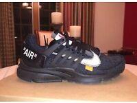 206b66d6e Off-White X Nike Air Presto Black Brand New 100% Authentic uk 10 size