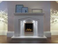 Marble and stone fireplace surrounds