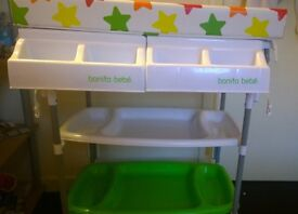 Baby changing table with built in bath