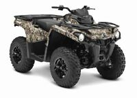 2015 Can-Am Outlander L 450 DPS $24.29/wk (120 months@7.99%)