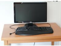 Ergonomic Keyboard (Belkin), USB cable with 2 extra USB ports on the keyboard
