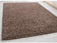 Mocha shaggy rug