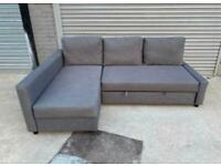 FREE DELIVERY IKEA FRIHETEN GREY L-SHAPED CORNER SOFA BED GREAT CONDITION