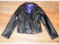 disneystore leather style jacket 11-12 years