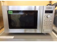 Brand New! - BOSCH Silver 800w MICROWAVE OVEN (RRP £109) + 2 YEAR WARRANTY + FREE LOCAL DELIVERY