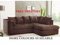 Brand New, Fabric Corner Sofas Foam Filled Quick Delivery Cheap Couches